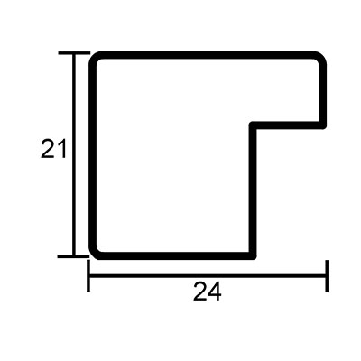 mira holz bilderrahmen sagnat 70x100 cm wei. Black Bedroom Furniture Sets. Home Design Ideas
