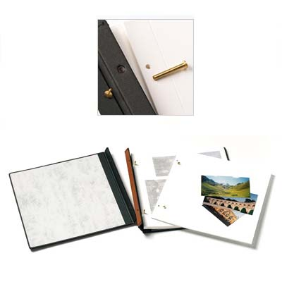 walther buchschraubenalbum premium 100 wei e seiten 37x37 cm rot. Black Bedroom Furniture Sets. Home Design Ideas