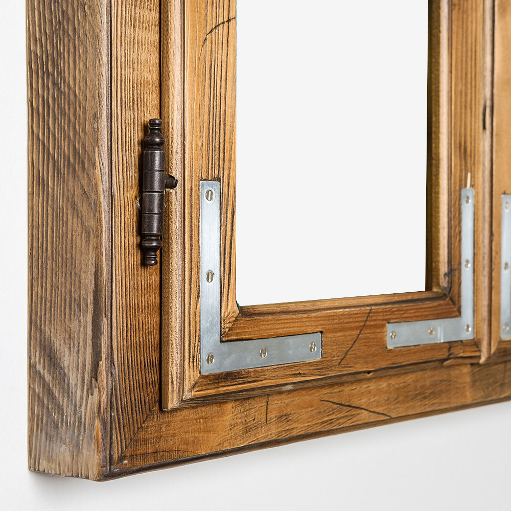Gipfel-Design Dekofenster 60x80 cm mit LED-Beleuchtung - Patiniert ...