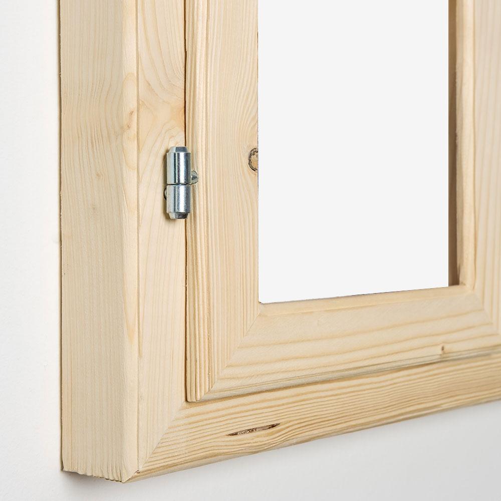 Gipfel-Design Dekofenster 60x80 cm ohne - Roh | AllesRahmen.de