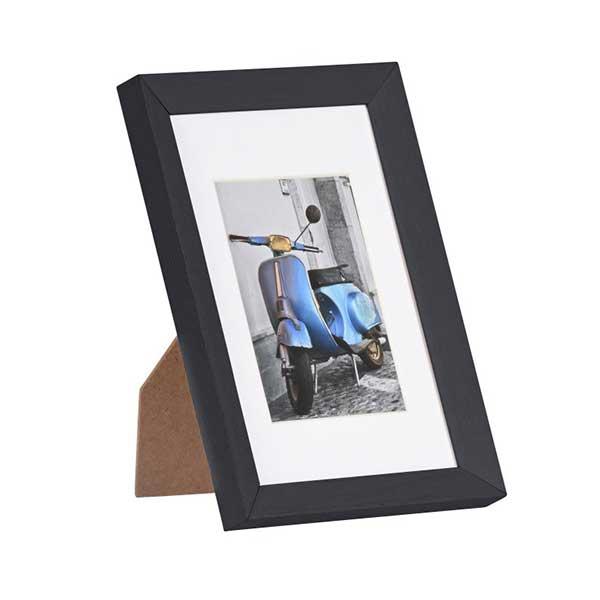 henzo holz bilderrahmen umbria mit passepartout 15x20 cm 10x15 cm rot. Black Bedroom Furniture Sets. Home Design Ideas