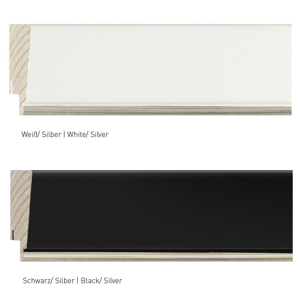 nielsen holzrahmen classico 26 70x100 cm schwarz silber. Black Bedroom Furniture Sets. Home Design Ideas