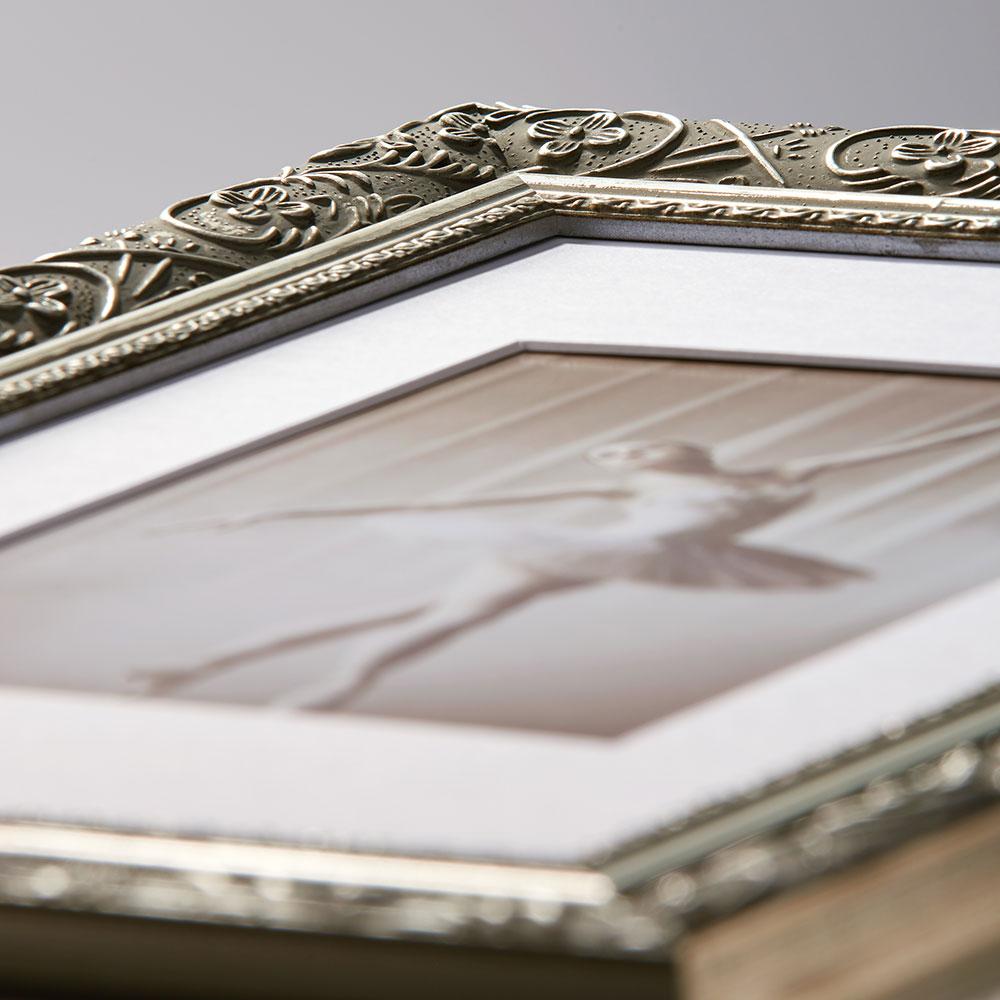 walther holzrahmen barock 50x70 schwarz silber. Black Bedroom Furniture Sets. Home Design Ideas