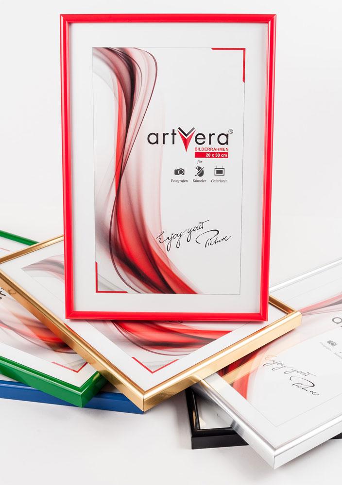 Artvera-Bilderrahmen Kunststoffrahmen mit Urkunde, DIN A4 21x29,7 ...