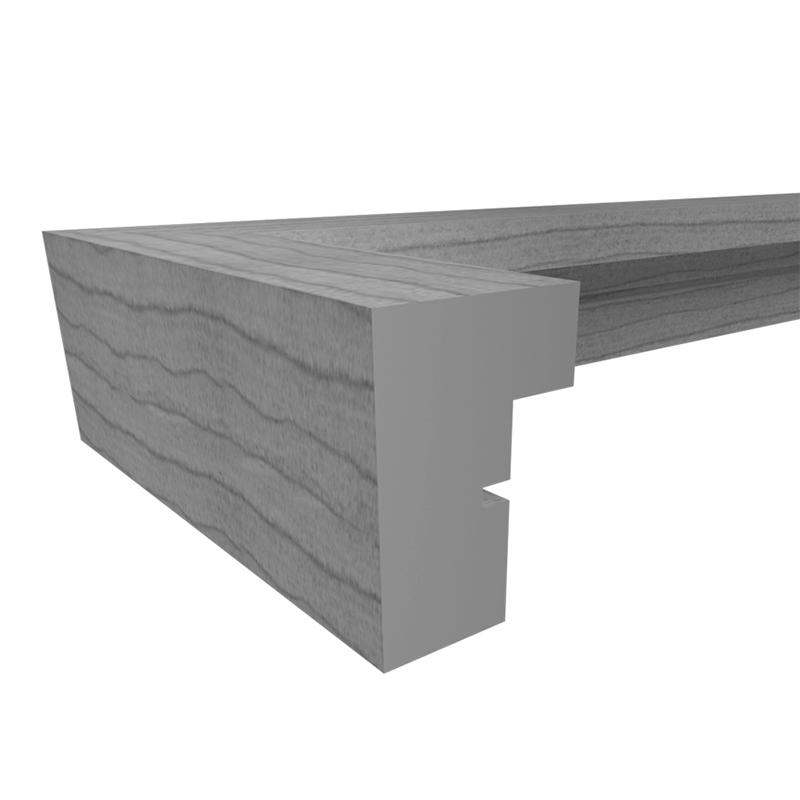 3D Holzrahmen Stockholm weiß 40x40 cm