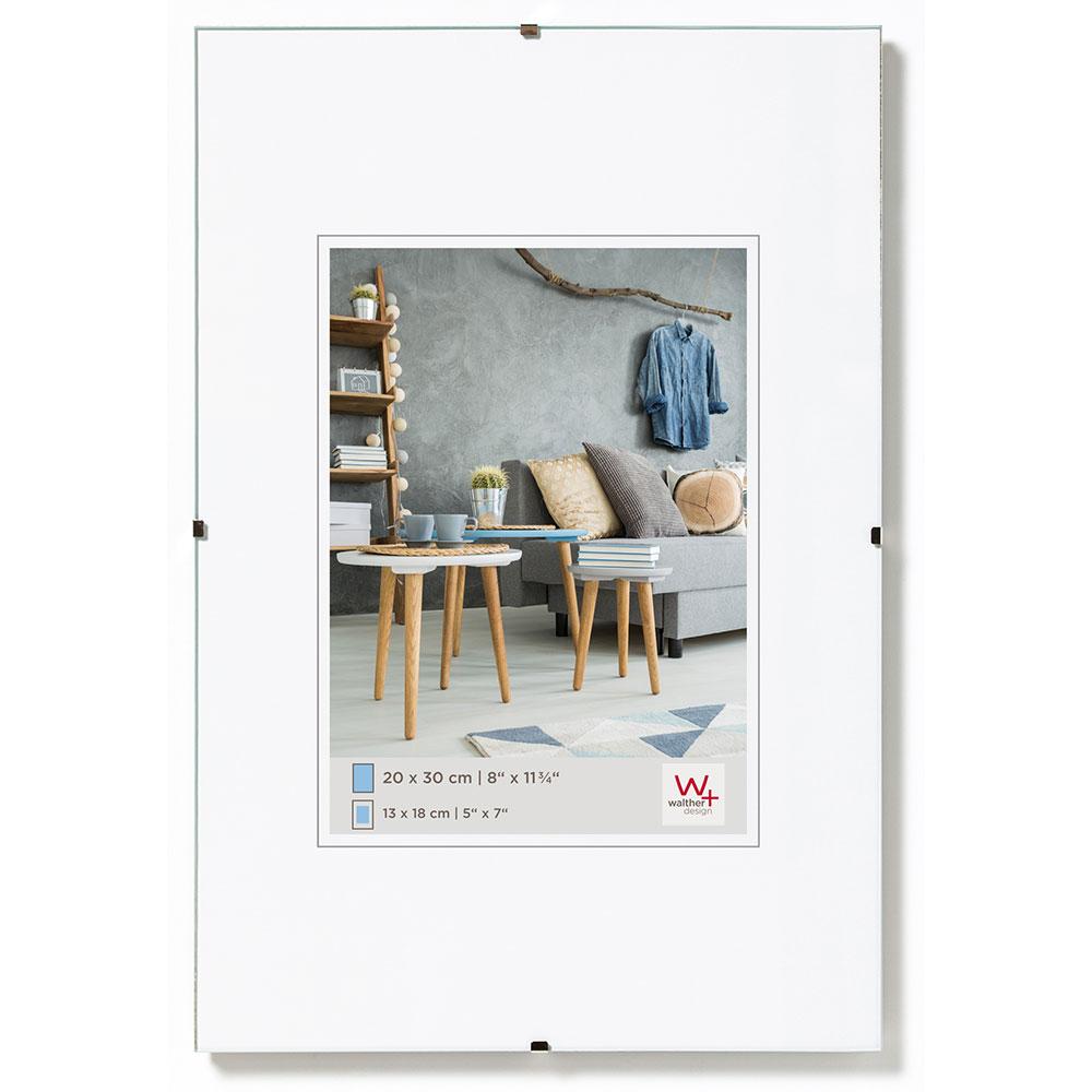 walther rahmenlose bildhalter 24x30. Black Bedroom Furniture Sets. Home Design Ideas
