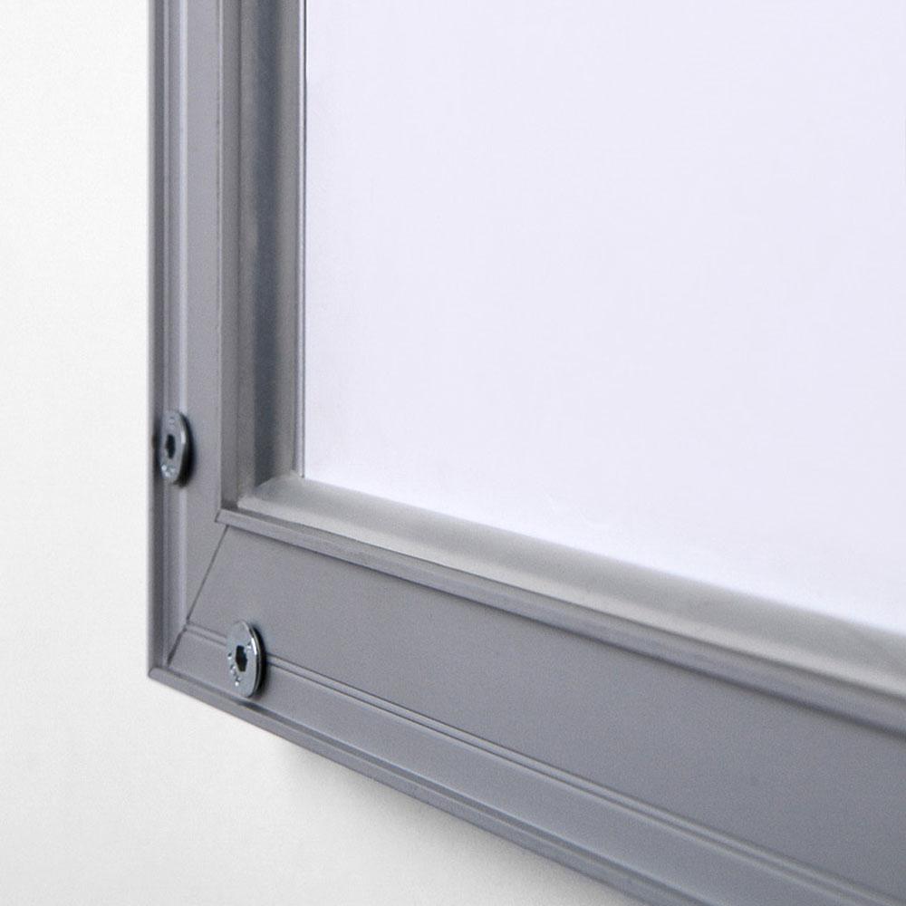 Display LED Plakatrahmen einseitig 84,1x118,9 cm (A0) - silber ...