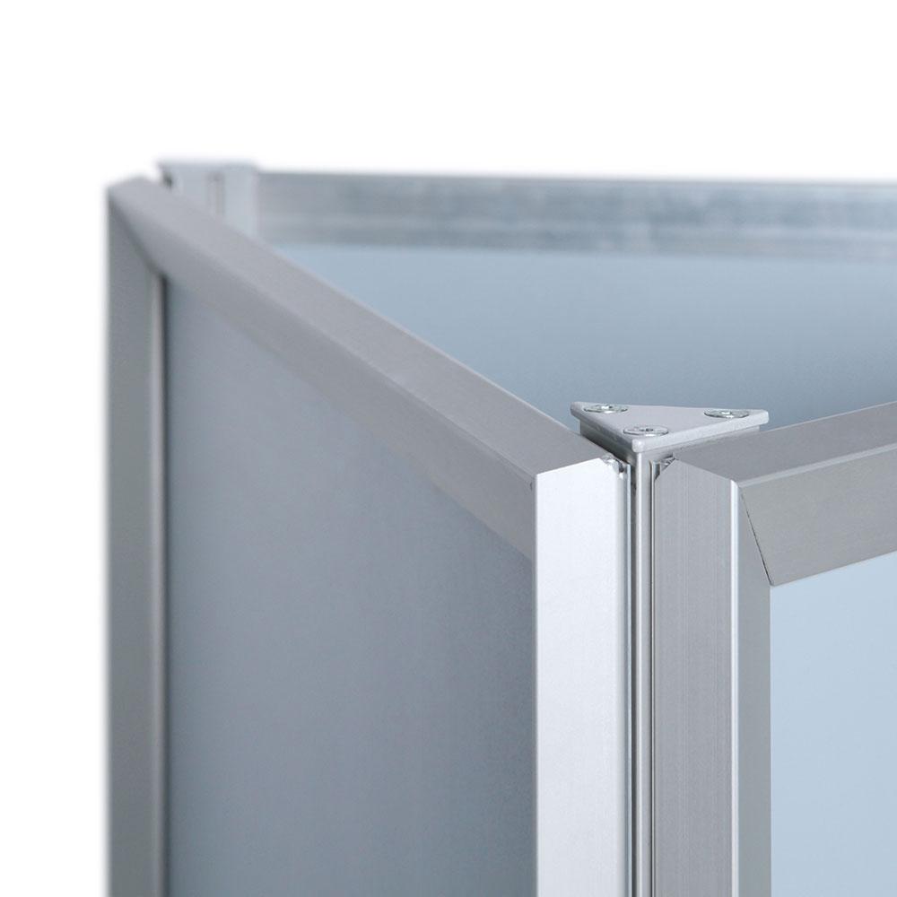 display dreiecksst nder triangle 3x din a1 silber. Black Bedroom Furniture Sets. Home Design Ideas