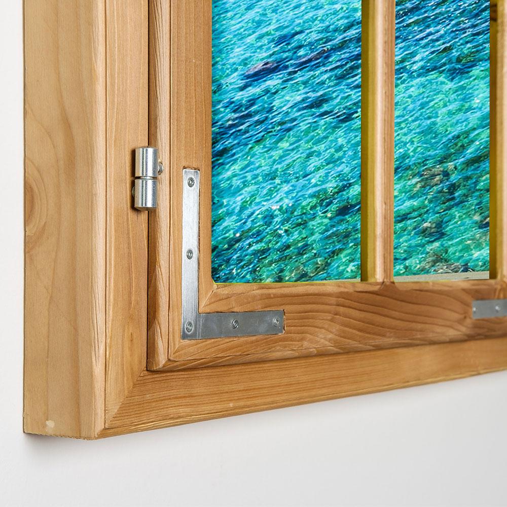 gipfel design dekofenster 70x100 meerblick motiv ohne gebeizt bild auf forex platte. Black Bedroom Furniture Sets. Home Design Ideas