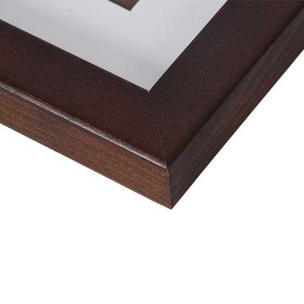 henzo holz bilderrahmen jardin mit passepartout 50x70 cm 40x60 cm braun. Black Bedroom Furniture Sets. Home Design Ideas