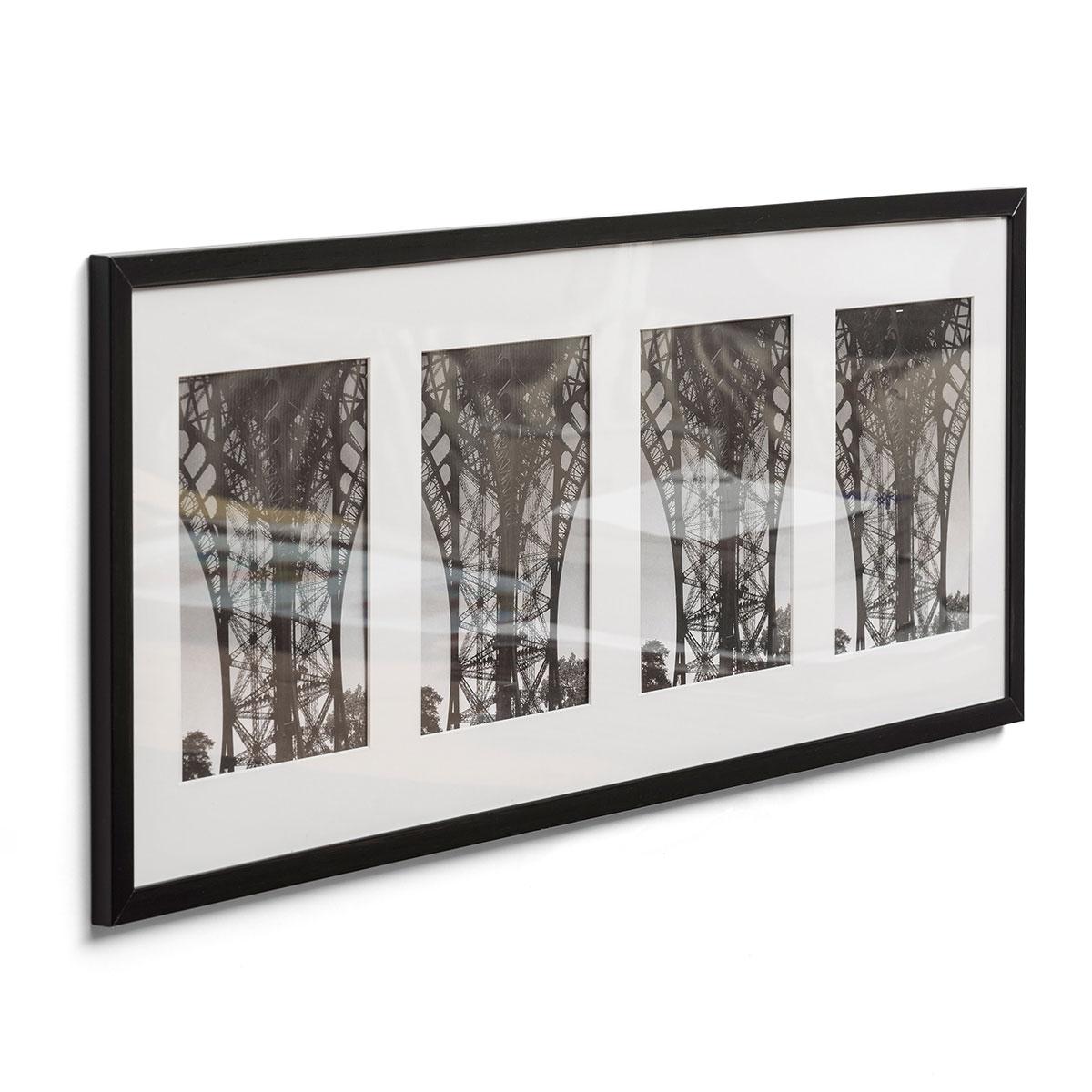 Multiframes 4er Galerierahmen 25x65 cm 4x 10x15 cm - Dunkelbraun ...
