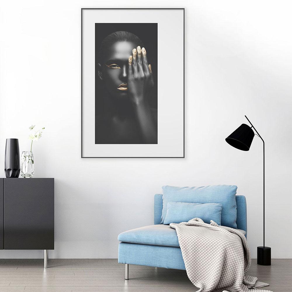 nielsen alurahmen profil alpha 59 4x84 1 cm a1 eiche wei. Black Bedroom Furniture Sets. Home Design Ideas