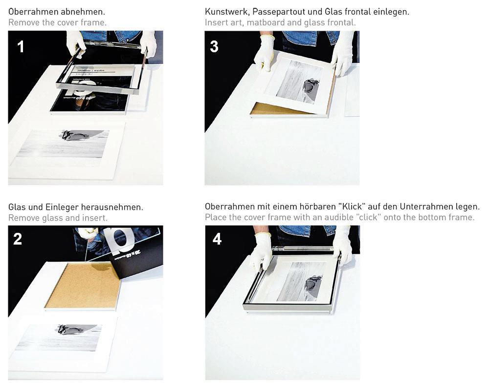 Nielsen Alu-Bilderrahmen Alpha Magnet 42x59,4 cm (A2) - Silber ...