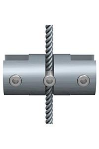 Klemme doppelt f�r 1,5 mm Seil