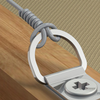 D-Ring Aufh�nger f�r knotbares Stahlseil