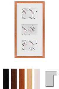 "3er Galerierahmen ""Lund"", 25x50 cm - 10x15 cm"