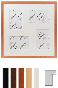 "4er Galerierahmen ""Lund"", 40x40 cm - 10x15 cm"