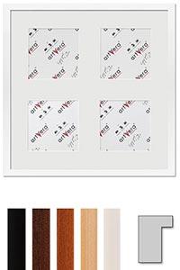 "4er Galerierahmen ""Lund"", 40x40 cm - 13x13 cm"