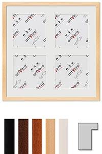 "4er Galerierahmen ""Lund"", 40x40 cm - 15x15 cm"