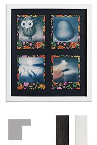 Bilderrahmen f�r 4 Sofortbilder - Typ Polaroid 600