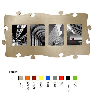 countryliving puzzle rahmen 4 mal 13x18 natur. Black Bedroom Furniture Sets. Home Design Ideas