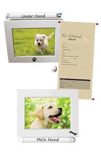 """Fotorahmen mit Urkunde """"Hund"""""""
