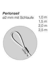 Perlonseil mit Schlaufe, 2 mm