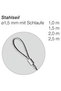 Stahlseil mit Schlaufe, 1,5 mm