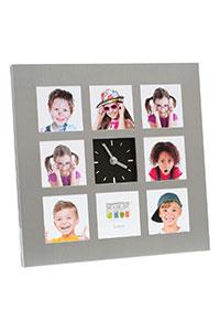 Galerierahmen mit Uhr f�r 8 Bilder