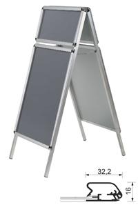 Kundenstopper mit Toprahmen 32 mm
