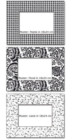 Passepartout mit Deko-Muster