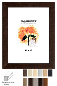 Kunststoffrahmen-Zuschnitt Burnt Oak