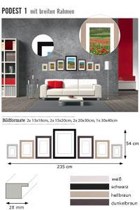 """Wandgalerie """"Podest 1 mit breiten Rahmen"""""""