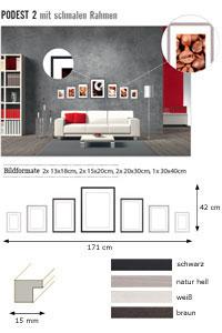 """Wandgalerie """"Podest 2 mit schmalen Rahmen"""""""