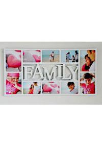 """Symbol Galerierahmen """"Family"""" f�r 10 Fotos"""