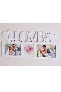 """Symbol Galerierahmen """"Love"""" f�r 3 Fotos"""