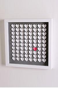 3D Wandbild Herzen