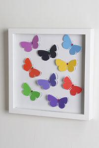 3D Wandbild Schmetterlinge