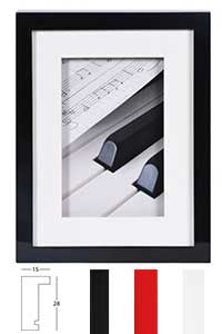 Holz-Bilderrahmen Piano mit Passepartout