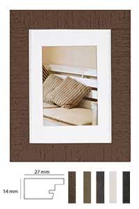 Holz-Bilderrahmen Driftwood mit Passepartout