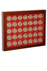 Münzrahmen LOUVRE für gekapselte 2-EURO-Münzen