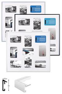 Pixel Galerierahmen mit 9 Bildausschnitten