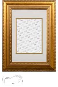 Barock-Bilderrahmen Titisee mit Passepartout