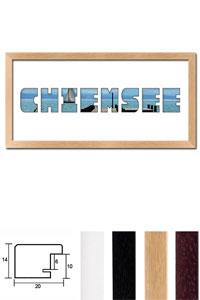 """Regiorahmen """"Chiemsee"""" mit Passepartout"""