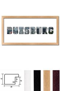 """Regiorahmen """"Duisburg"""" mit Passepartout"""