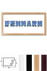 """Regiorahmen """"Fehmarn"""" mit Passepartout"""