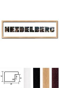 "Regiorahmen ""Heidelberg"" mit Passepartout"