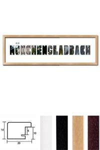"""Regiorahmen """"M�nchengladbach"""" mit Passepartout"""