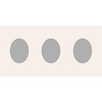 Ovale Ausschnitte 25x50 cm