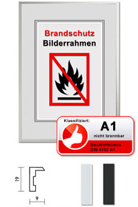 "Klassifizierter Standard A1 Brandschutzrahmen ""Econ eckig"""